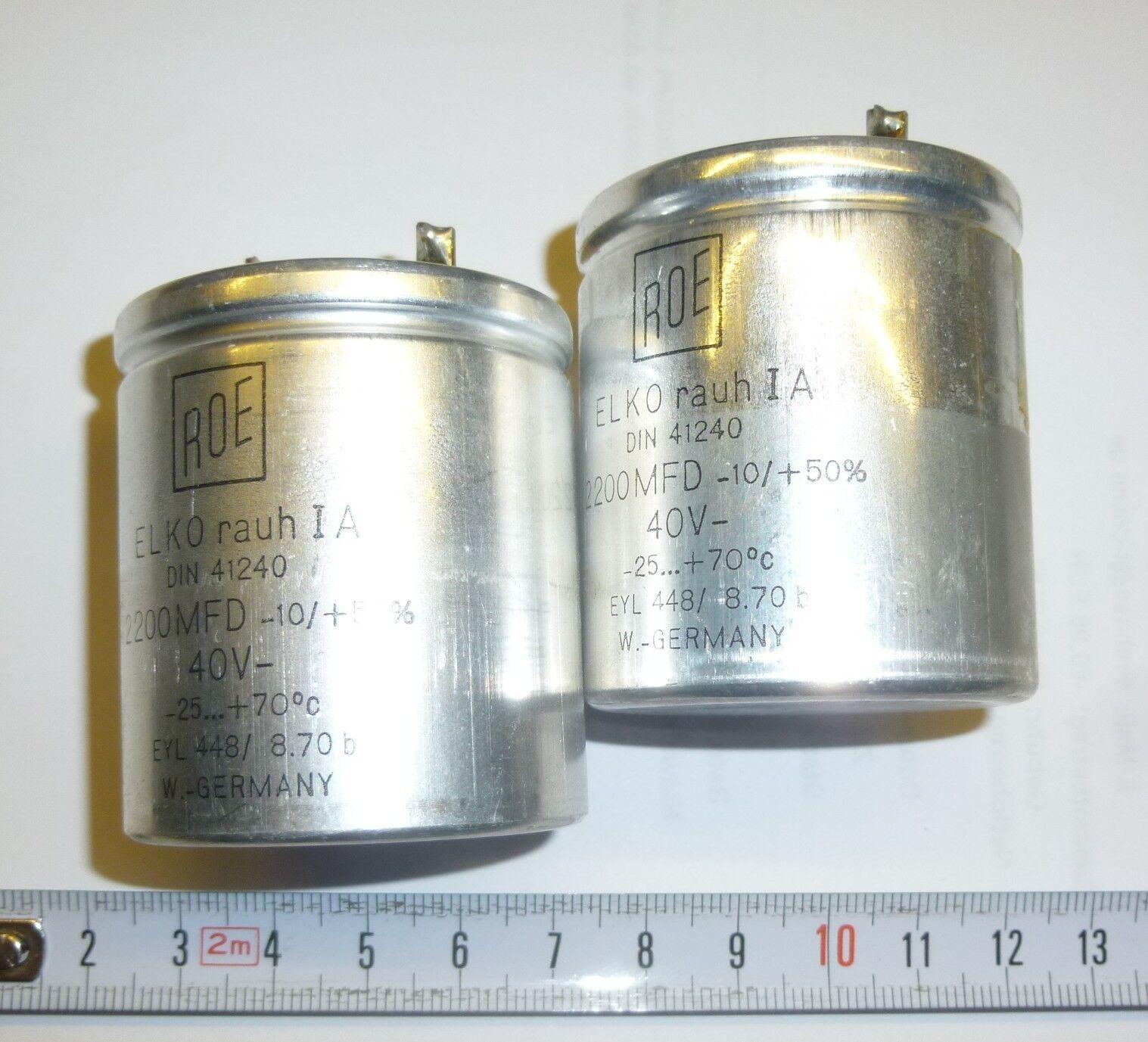 5 St Roe Mkc1813 Folien Kondensator 47nf 400v 10 Elko 10uf 250v 2 X 2200 F 40 Volt