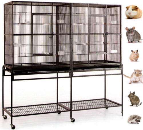 LARGE Double Critter Cage For Chinchilla Ferret SugarGlider Rat Mice Guinea Pig