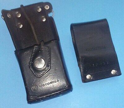 Motorola Leather Radio Holster For Ht1000 Xts3000 Xts5000 Mts2000 Wbelt Loop