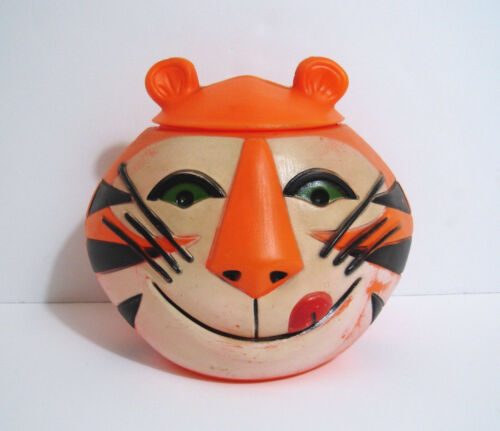 Vintage 1968 KELLOGGS TONY THE TIGER Cookie Jar / Cereal Container