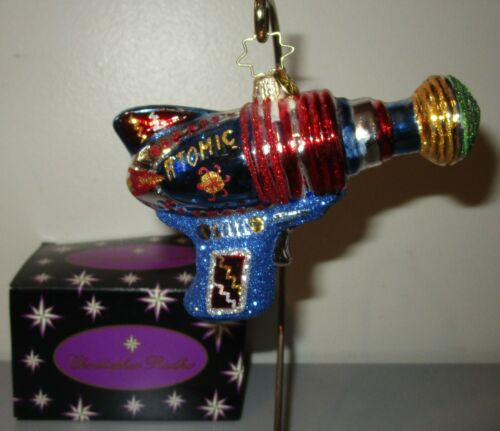 RADKO Ray Gun Atomic Zapper Science Fiction Space Glass Christmas Ornament + Box