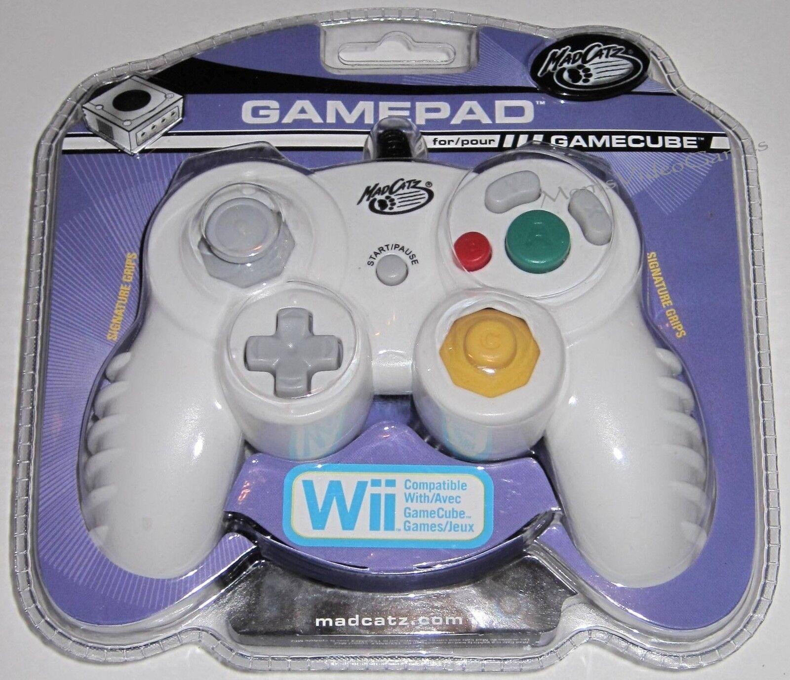 White- Madcatz Controller For Nintendo Gamecube Brand
