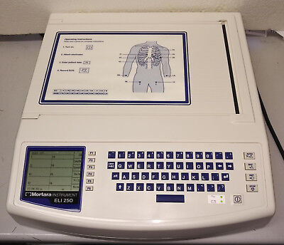 Mortara ELI 250  EKG/ECG Machine w/Interpretation... Spring (Ekg Machine)
