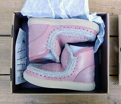 Mou Eskimo Sneaker Kid Microglitter Antique Rose Size 35 EU 4 US