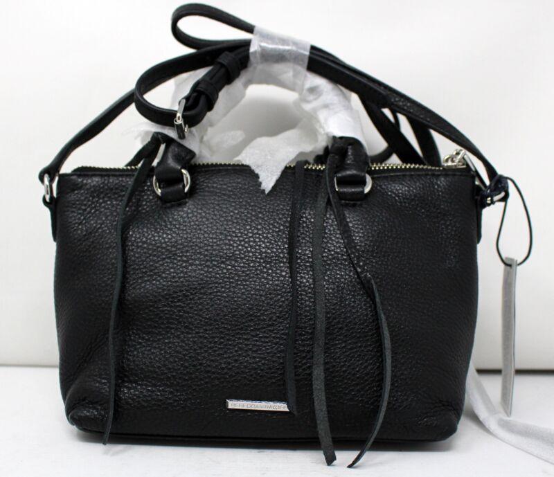 Rebecca Minkoff Micro Moto Satchel Crossbody Shoulder Bag Black