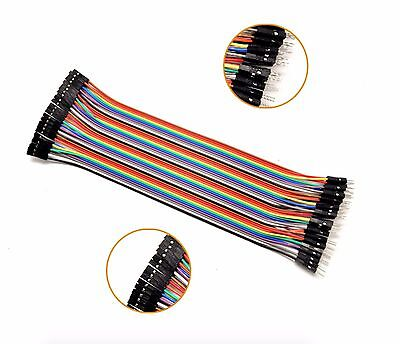 40pcs Dupont Wire Jumper Cables 20cm 2.54mm Female To Male 1p-1p