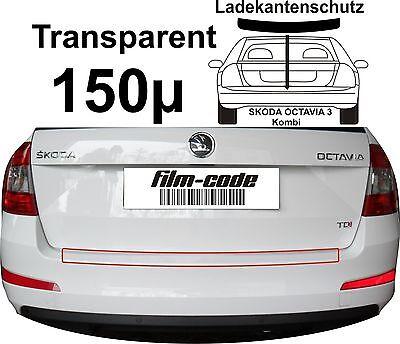 Lackschutzfolie Ladekantenschutz  SKODA OCTAVIA 3 III Kombi transparent 150µ