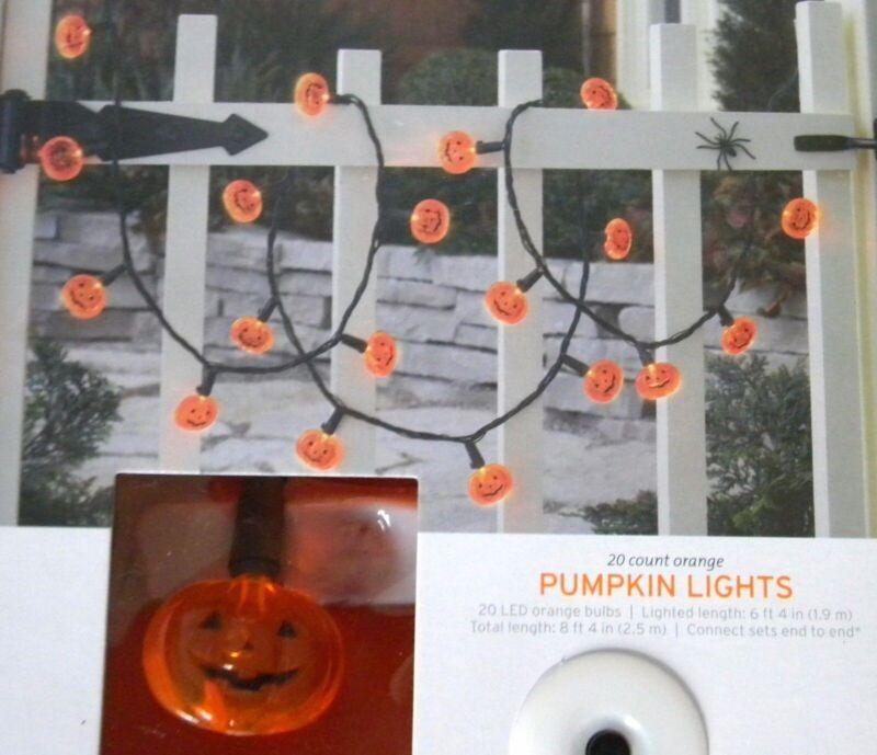 20 LED ORANGE PUMPKIN Halloween Lights