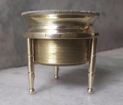 Vintage Antique Style Brass Chart Map Glass Magnifying Desk Lens Magnifier