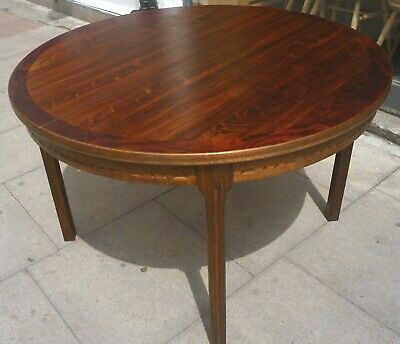Vintage 1970s  Troeds, Rosewood round extendable dining table