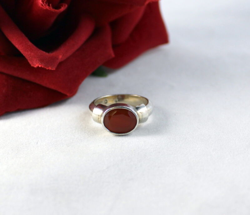 Sterling Silver Red 5.36g  Size 5.5  Ring   CAT RESCUE