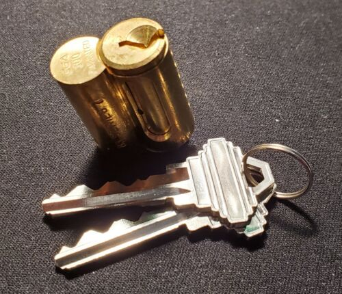 ABUS 83030 Series 83/45 S2 #300 Brass Cylinder Core With 2 Keys, Schlage® Keyway