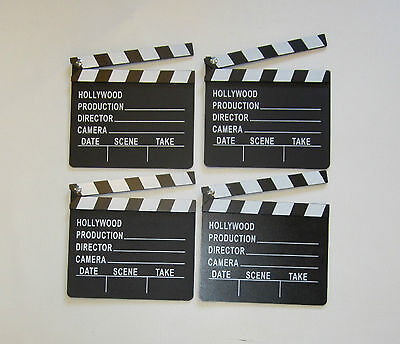 4 NEW MOVIE DIRECTOR'S CLAPBOARD PROP HOLLYWOOD CLAPPER CHALKBOARD PARTY DECOR - Movie Director Clapboard