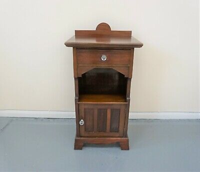 Antique Edwardian Mahogany Bedside Cabinet Pot Cupboard