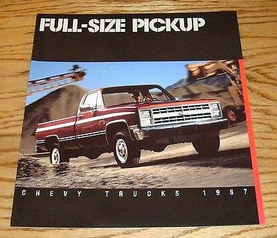 Original 1987 Chevrolet Truck Full Size Pickup Sales Brochure 87 Chevy