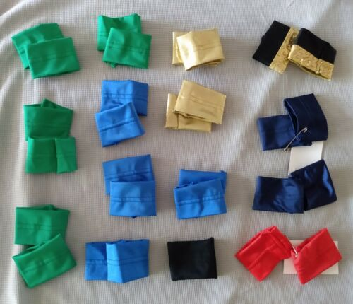 MULTICOLOR SPANDEX WRISTBANDS Dance Costume Accessory:4-Kelly+4-Blue+2-Navy+more