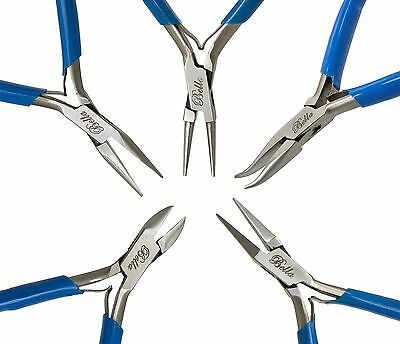 5 PC JEWELERS PLIERS SET JEWELRY MAKING BEADING WIRE WRAPPING PLIERS SET