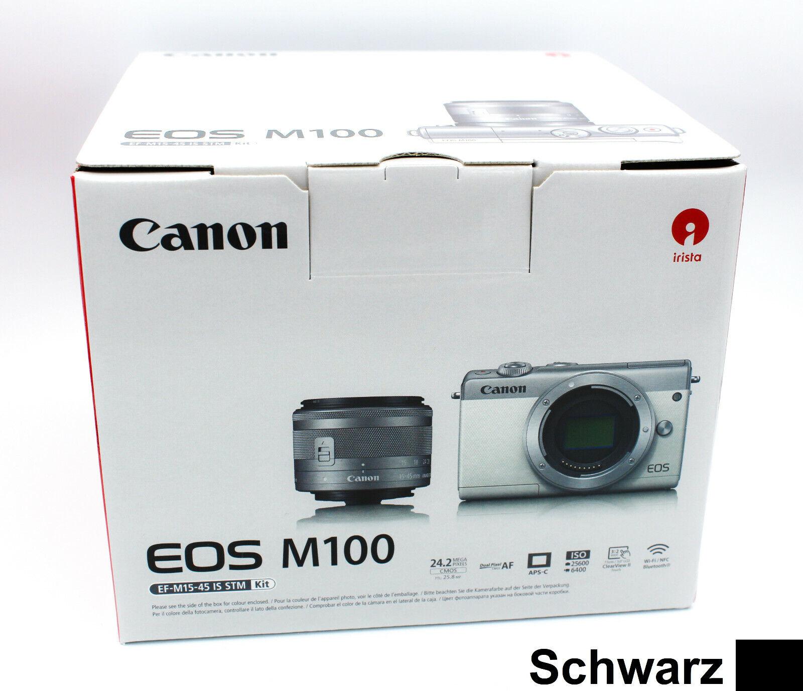 CANON EOS M100 Kit mit Objektiv 15-45mm - Systemkamera - NEU - Schwarz Black