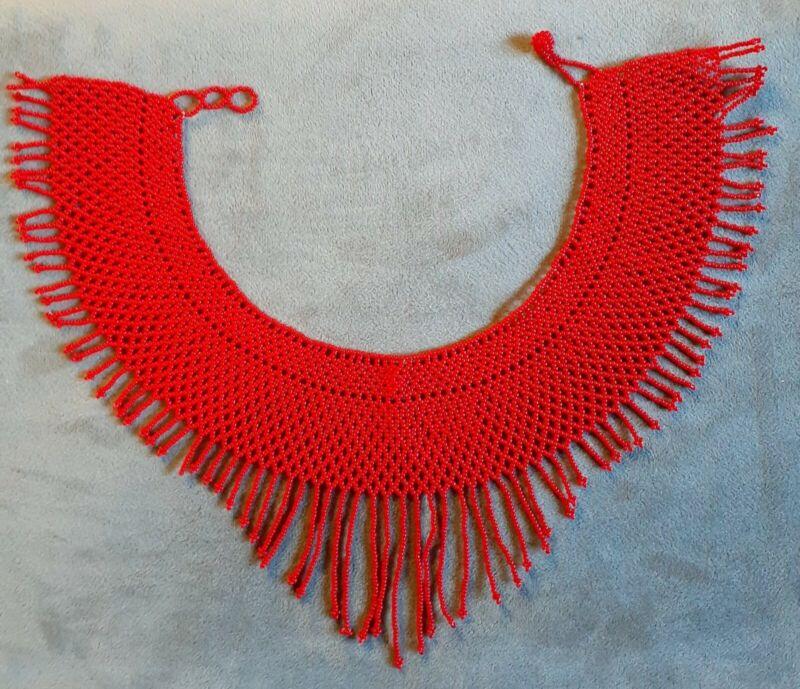 Beautiful Womens Handmade Beaded Collar Fringe Necklace - Bohemian