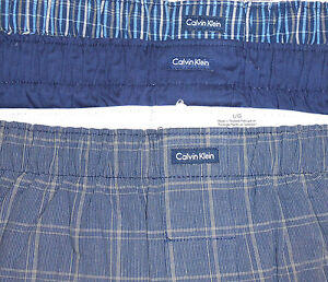 New Calvin Klein CK Mens Woven Boxers Traditional Fit Pack of 3 Choose Color
