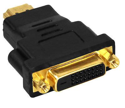 Hd Pc (mumbi HDMI DVI Adapter Buchse Stecker PC TV Monitor Beamer Video 1080p Full HD)