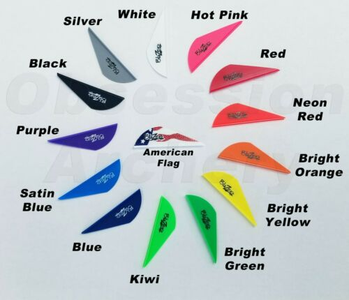 Bohning Blazer Vanes 24 36 50 or 100 Pack Arrow Fletching 14 Color Choices