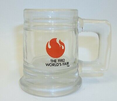 1982 Worlds Fair Knoxville TN Miniature Glass Shot Glass (Glasses Knoxville Tn)