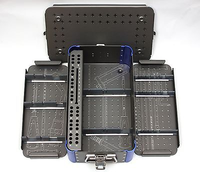 Empty Small Cannulated 7.3mm Screw Rack Instrument Case 2 Removable Trays