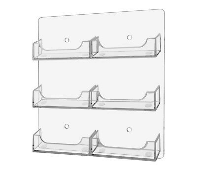 Business Gift Card Holder 6 Pocket Wall Mount Display Rack