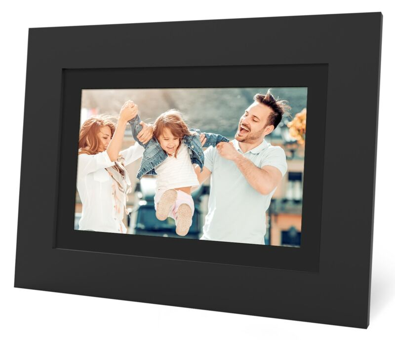 """SIMPLYSMART HOME FSM08BL 8"""" PhotoShare Frame Cloud Connected Wi-Fi Digital"""