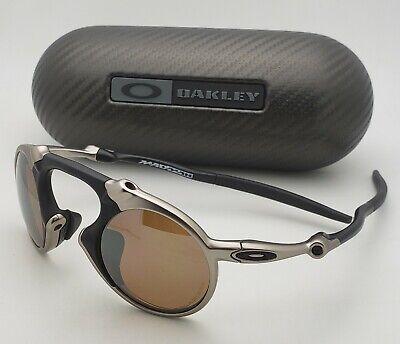 Polarized OAKLEY Sunglasses MADMAN OO6019-03 Plasma Frames Tungsten Iridium Lens