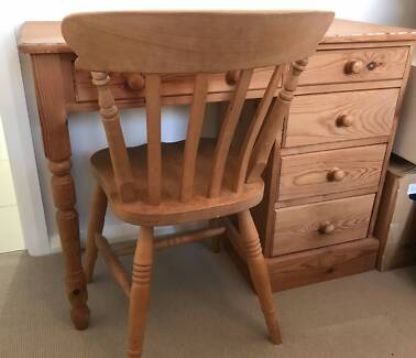 FREE pine desk and chair