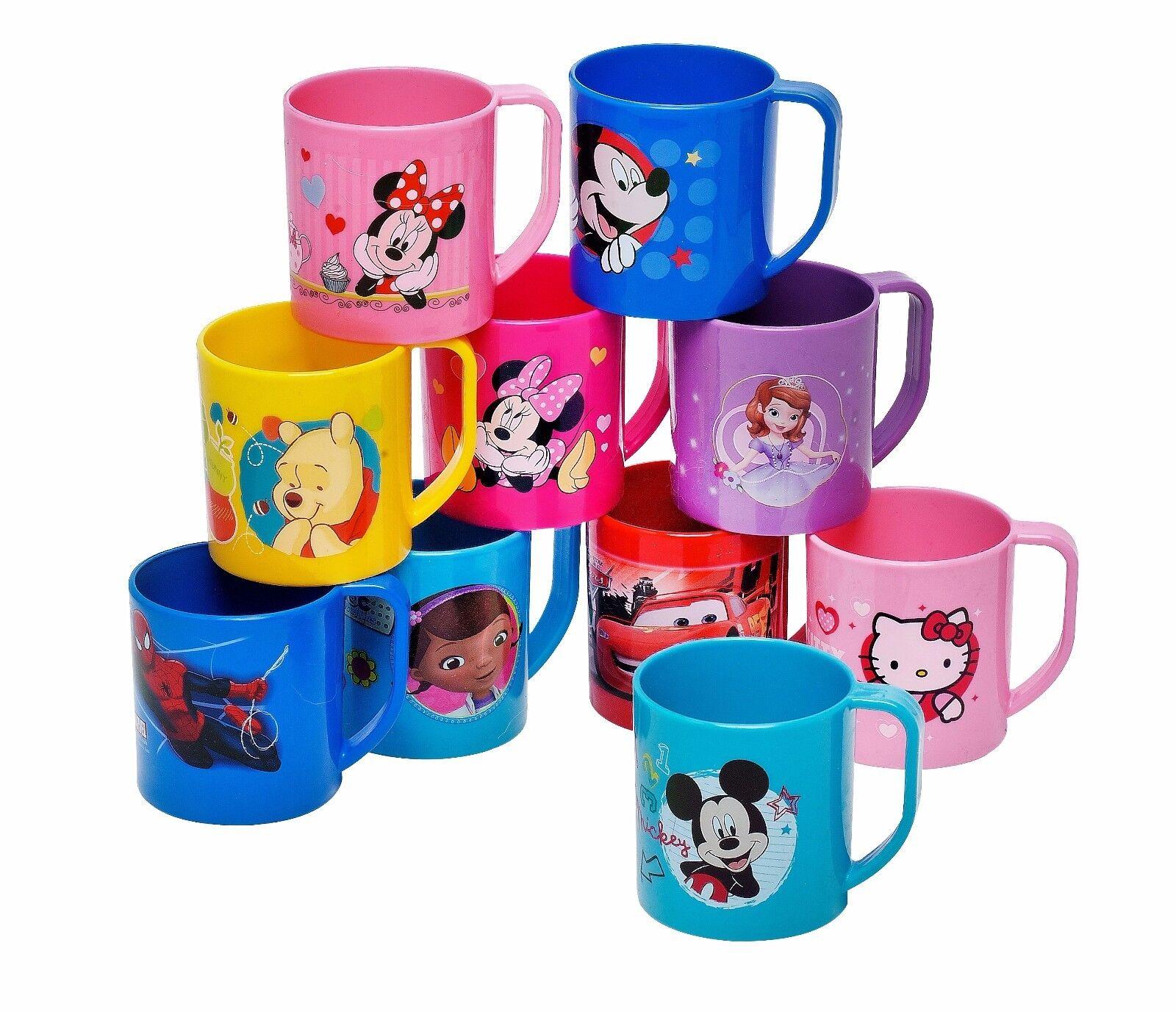 Disney Kinder Tasse Trinktasse Becher Bruchsicher 350 ml Mikrowelle Kunststoff