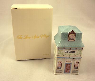 Lenox Spice Village Celery Spice Jar 1989 Vintage Victorian NIB Free Shipping Lenox Village Spice Jar