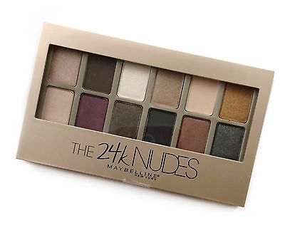 New Maybelline The 24k NUDES Eyeshadow 12 shades Palette FREE U.S SHIPPING