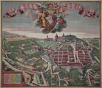 Gotha - Die hochfürstliche Residentz Friedenstein und Hauptstadt - Seutter 1740