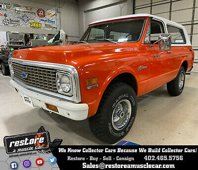 1972 Chevrolet K5 Blazer 4x4, 350ci - 4 Speed, Removable Top, Hugger Orange