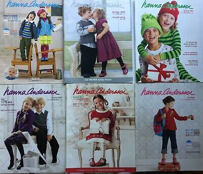 Lot of 6 HANNA ANDERSSON Childrens Fashion Catalogs 2006 - 2007](Children Catalogs)