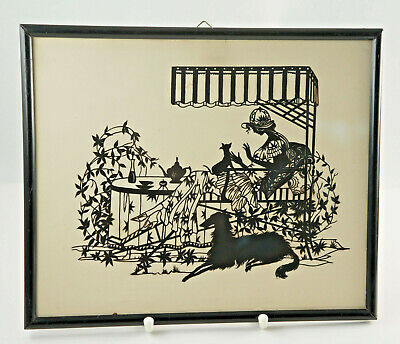 Adorable Original Paper Cutting, Framed with Glass, 28x23 Cm. (ST17)