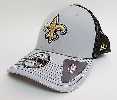 New Era 39THIRTY NEW ORLEANS SAINTS TACTEL TRUCKER Mesh Hat ($30) CAP NFL Flex  Tactel Flex-cap