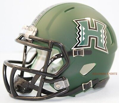 (HAWAII WARRIORS (Matte Green) Riddell Speed Mini Helmet)