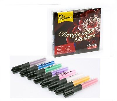 Permanent paint markers. Best marker pens for rocks,ceramic, glass 8 count