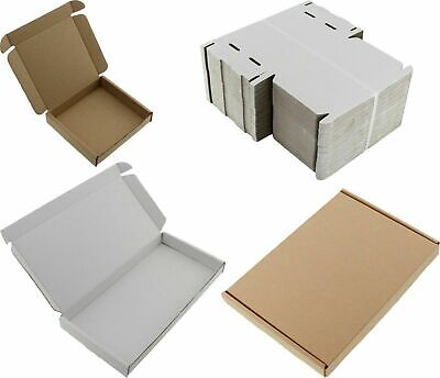 Pack of 100 A5 C5 ROYAL MAIL PIP LARGE LETTER CARDBOARD BOX WHITE 160x230X22mm