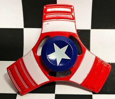 10 Marvel SPIDERMAN IRON MAN CAPT AMERICA Aluminum 3 Side Fidget Spinner LOT