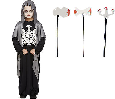 unheimliches Kinder Skelettkostüm 4 -12 Jahre Skelett Kostüm Zubehör wählbar