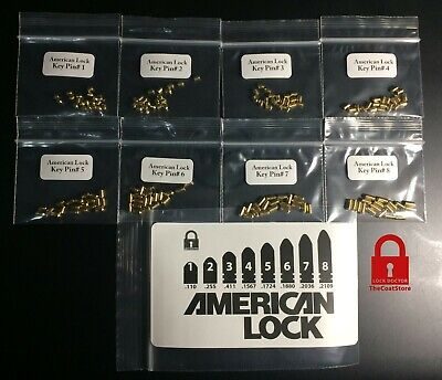 American Lock Rekeying Pinning Kit 160 New Pins - 6 New Keys