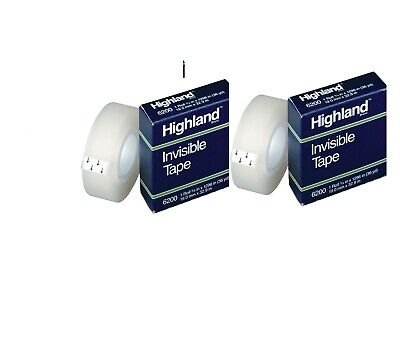 Highland 6200 Invisible Tape 0.75 Inch X 36 Yards Matte 2 Pack