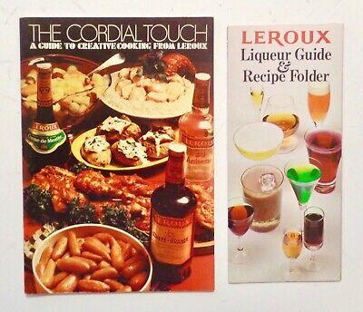Liqueur Drink Recipes - Lot of 2 VINTAGE 1970s LEROUX LIQUEURS & BRANDY Cocktails Recipes Drinks BOOZE