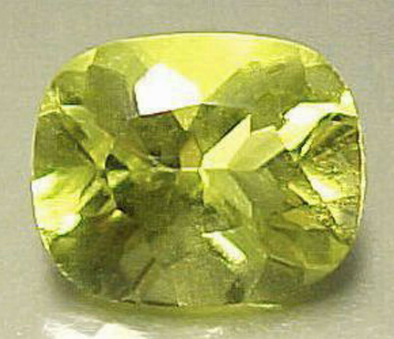 SUPERB COLOR! 9×11 mm CUSHION CUT LEMON QUARTZ #R394