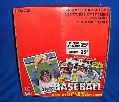 - 1982 Fleer Baseball Unopened Sticker and Album Collector's Edition Display Box